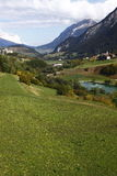Alpine landscape in Switzerland Stock Photos