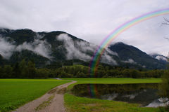 Alpine Landscape, Switzerland Royalty Free Stock Images