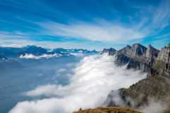 Alpine landscape in Switzerland Royalty Free Stock Photo