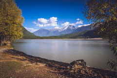 Alpine landscape of Tibet Royalty Free Stock Photo