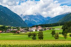 Alpine landscape. The `Valle Anterselva` or `Antholzertal` in South Tyrol, Italy Royalty Free Stock Photography