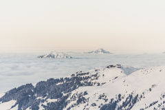 Alpine landscape in Winter Royalty Free Stock Photo