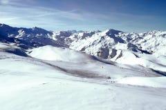 Alpine landscape. Winter time sun snow in Alps royalty free stock photos