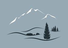 Alpine Landschaft lizenzfreie abbildung
