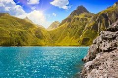 Alpine Landschaft auf der italienischen Seite lizenzfreie stockbilder