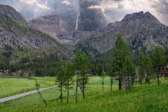 Alpine Landschaft auf der italienischen Seite lizenzfreies stockfoto