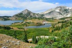 Alpine Landschaft in den Medizin-Bogen-Bergen von Wyoming Stockfoto