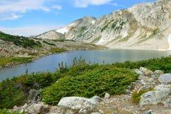Alpine Landschaft in den Medizin-Bogen-Bergen von Wyoming Stockbild