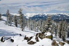 Alpine Landschaft des Winters Lizenzfreie Stockbilder