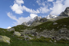 Alpine Landschaft früh morgens Stockfoto