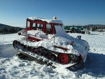 Alpine Landschaft im Winter unter frisch schneiendem Schnee stockbilder