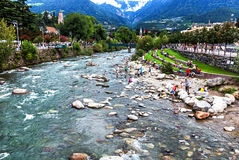 Alpine Landschaft - Merano, Süd-Tirol, Italien Stockfoto