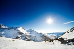 Alpine Landschaft mit copyspace stockfotografie