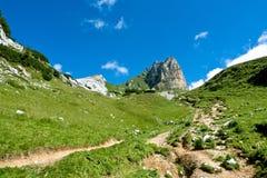 Alpine Landschaft, Rofan-Gebirgszug, Österreich Stockbild