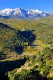 Alpine Landschaft von Colorado während des Laubs Stockfoto