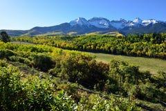 Alpine Landschaft von Colorado während des Laubs Lizenzfreies Stockfoto