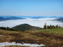 Alpine lansdcape around Grosse Bischofsmutze in dachsteingebirge in austria Royalty Free Stock Image