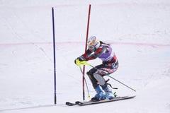 alpine lindsey skiing superstar vonn 免版税库存照片