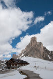 Alpine lodge in winter Royalty Free Stock Image