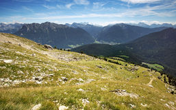 Alpine meadow in the Dolomites Royalty Free Stock Image