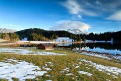 Alpine meadow by Geroldsee lake Royalty Free Stock Image