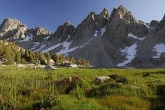 Alpine meadow in Sierra Nevada Stock Photo