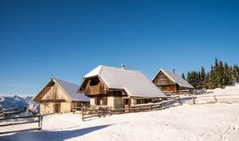 Alpine meadow in winter Royalty Free Stock Photo