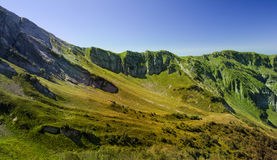 Alpine meadows and mountains Royalty Free Stock Images