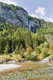 Moll river and Jungfernsprung waterfall close to Heiligenblut, Carinthia, Austria. Stock Images