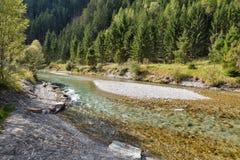 Moll river near Jungfernsprung waterfall close to Heiligenblut, Carinthia, Austria. Stock Photography