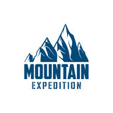 Alpine mountain expedition sport vector icon Royalty Free Stock Photo