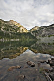 Alpine Mountain Lake and Reflection. Alpine Mountain Lake.  Strong reflections in the water Royalty Free Stock Image