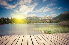 Alpine mountain lake Royalty Free Stock Photo