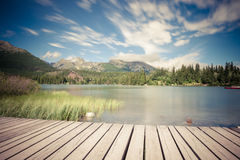 Alpine mountain lake Royalty Free Stock Images