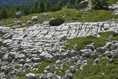 Alpine mountain - limestones Stock Images