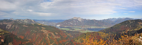 Alpine mountain panorama in autumn Stock Image