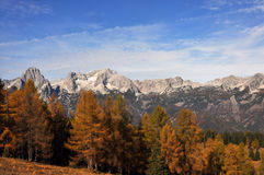 Alpine mountain panorama in autumn Stock Photography
