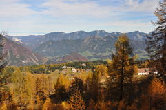 Alpine mountain panorama in autumn Stock Photos
