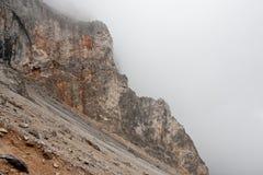 Alpine mountain peaks in the fog - Raxalpe Royalty Free Stock Photos