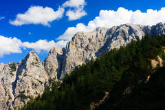 Alpine Mountain Range, Slovenia Stock Photography