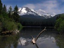 Alpine mountain reflection. Manzanita lake in lassen national park in northern california Stock Photos