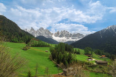 Alpine mountain ridge in May Stock Photos