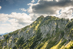 Alpine mountain view Royalty Free Stock Images