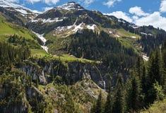 Alpine mountain view (Vorarlberg,Austria) Royalty Free Stock Photo
