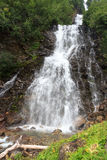 Alpine mountain waterfall in Hohe Tauern Alps Stock Images