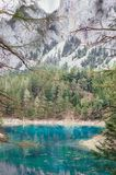 Natural. Alpine mountaine green lake. Gruner see, Austria Royalty Free Stock Images