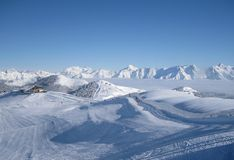 The Alpine mountains. Austria, Zell am See Royalty Free Stock Photography