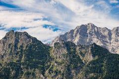 Alpine mountains in Berchtesgaden national park, Germany Stock Photos