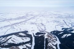 Alpine mountains and forest. Aerial view of the Alpine mountains and forest Stock Photography