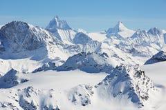 Alpine mountains. High alpine mountains in Switzerland Stock Photo